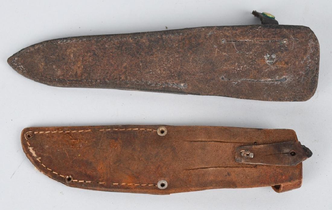 6-VINTAGE FIXED BLADE KNIFE SHEATHES - 6