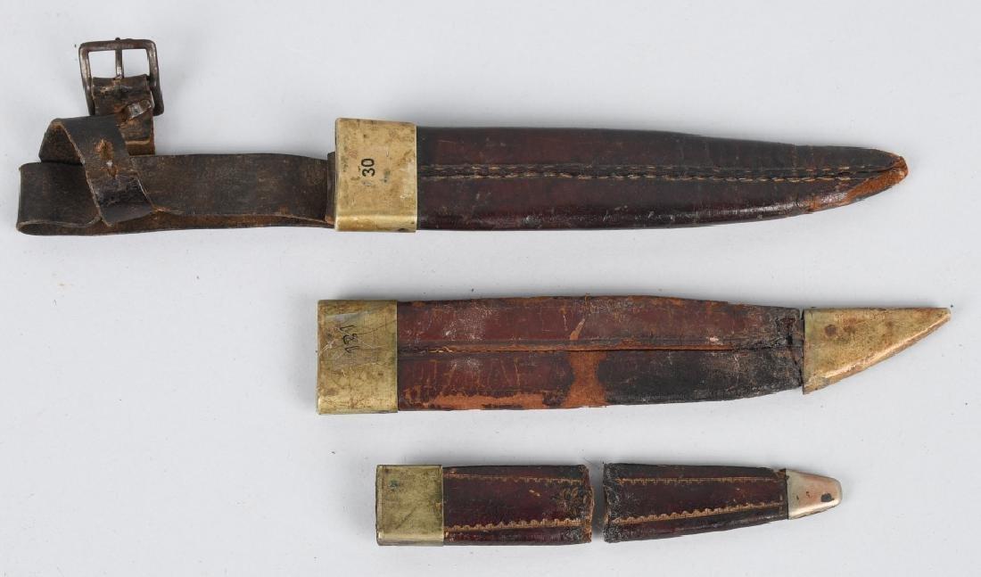6-VINTAGE FIXED BLADE KNIFE SHEATHES - 7