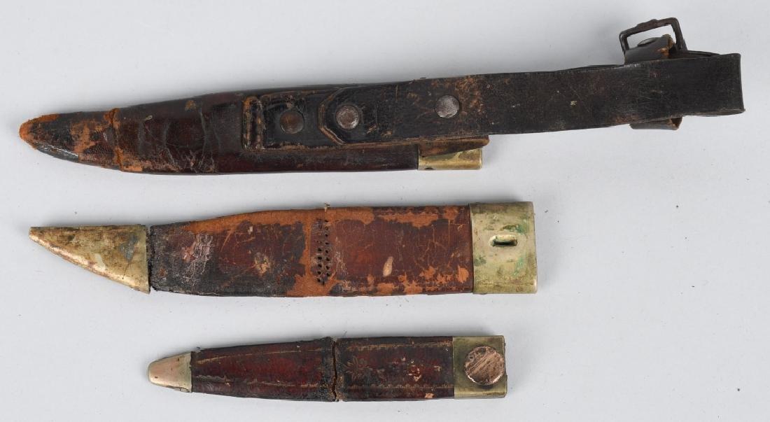 6-VINTAGE FIXED BLADE KNIFE SHEATHES - 8