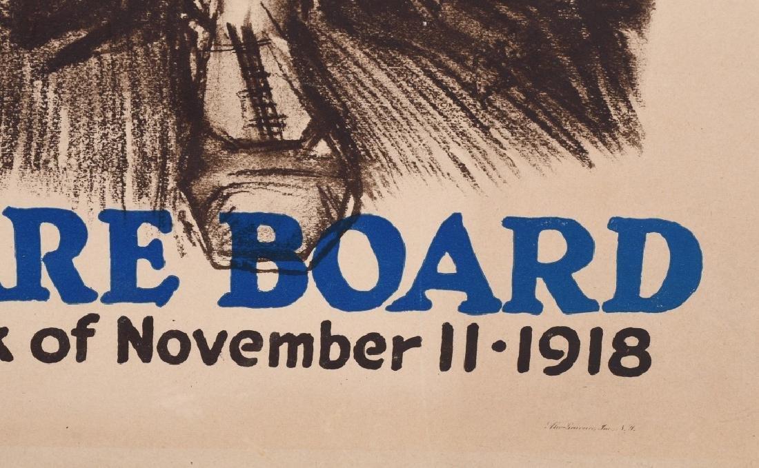 1918 WW1 JEWISH WELFARE BOARD POSTER - 6