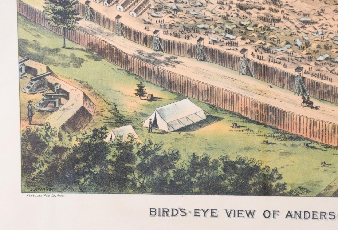 CONFEDERATE CIVIL WAR ANDERSONVILLE PRISON PRINT - 3