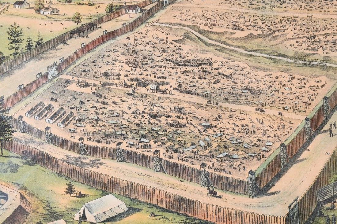 CONFEDERATE CIVIL WAR ANDERSONVILLE PRISON PRINT - 5