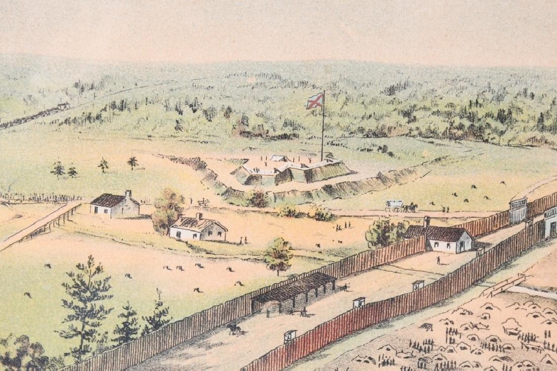 CONFEDERATE CIVIL WAR ANDERSONVILLE PRISON PRINT - 8