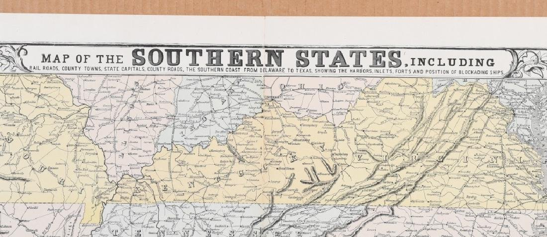1863 HARPER'S SOUTHERN STATES MAP - 10