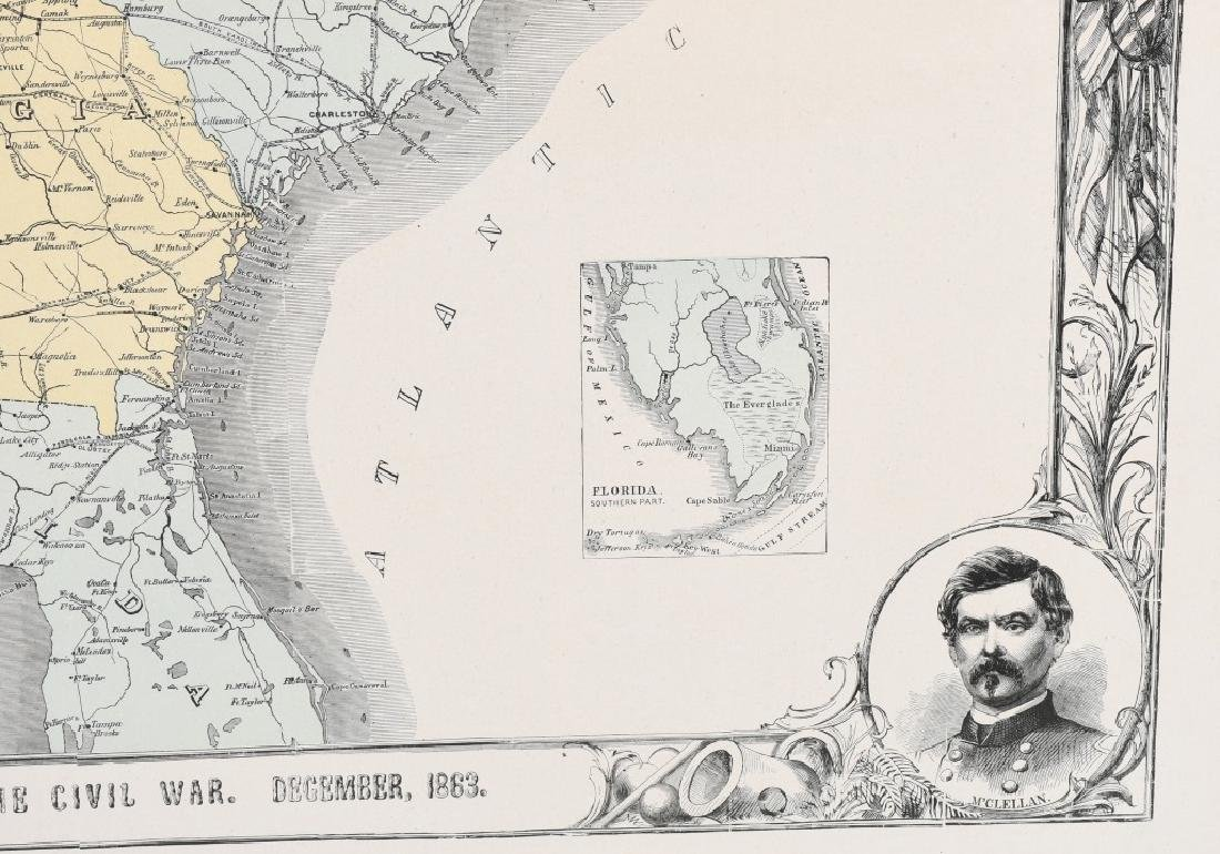 1863 HARPER'S SOUTHERN STATES MAP - 3