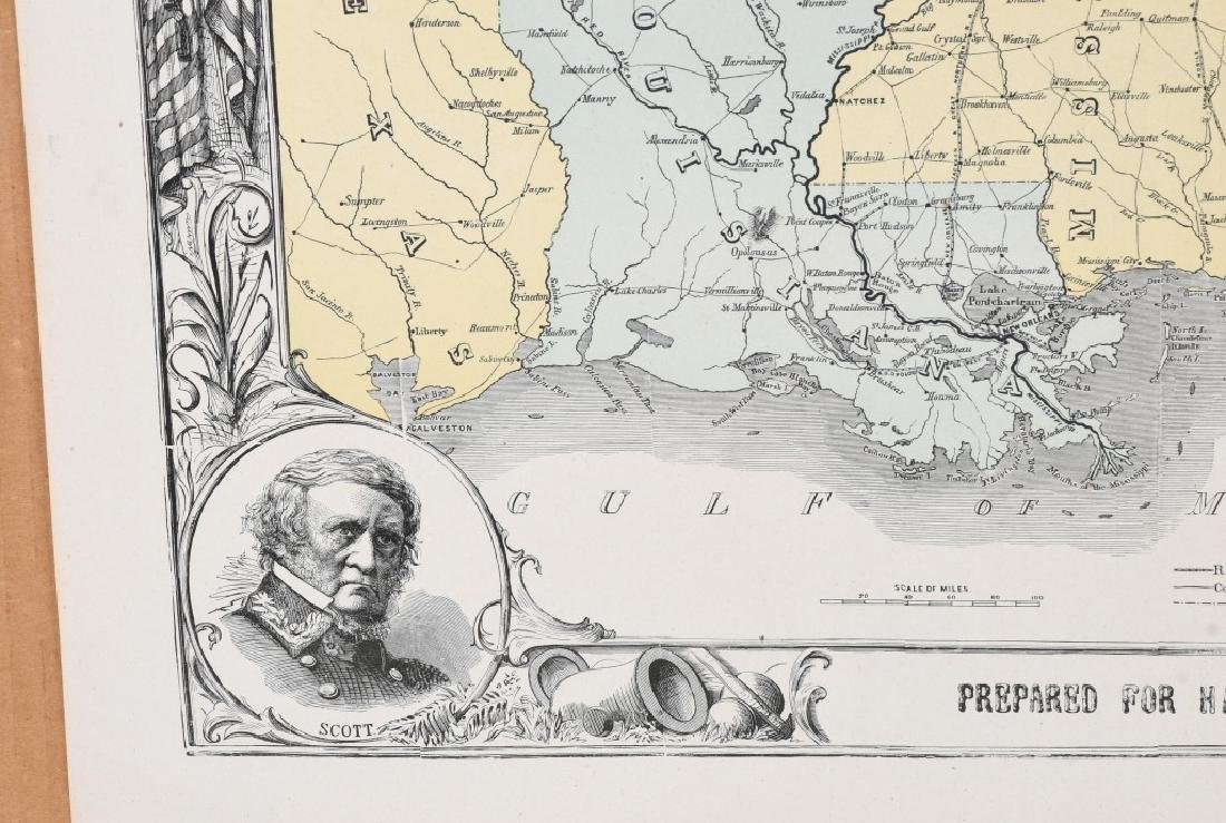 1863 HARPER'S SOUTHERN STATES MAP - 4