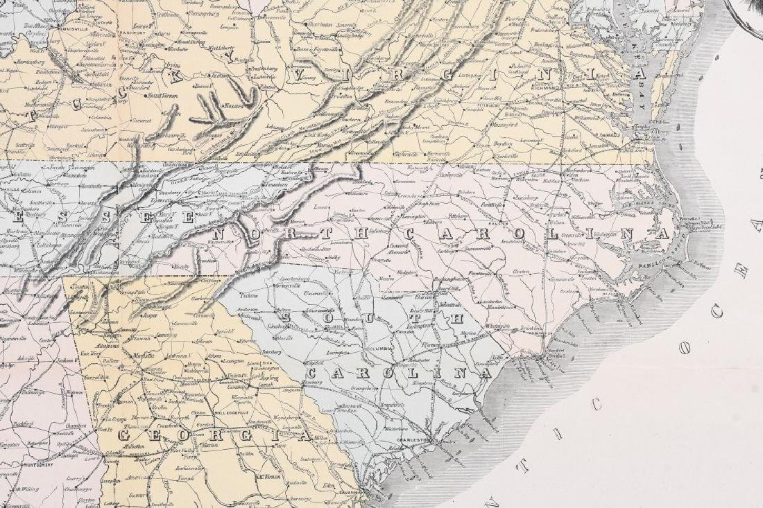 1863 HARPER'S SOUTHERN STATES MAP - 7