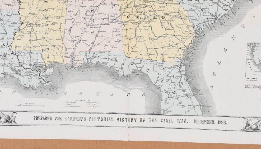 1863 HARPER'S SOUTHERN STATES MAP - 9