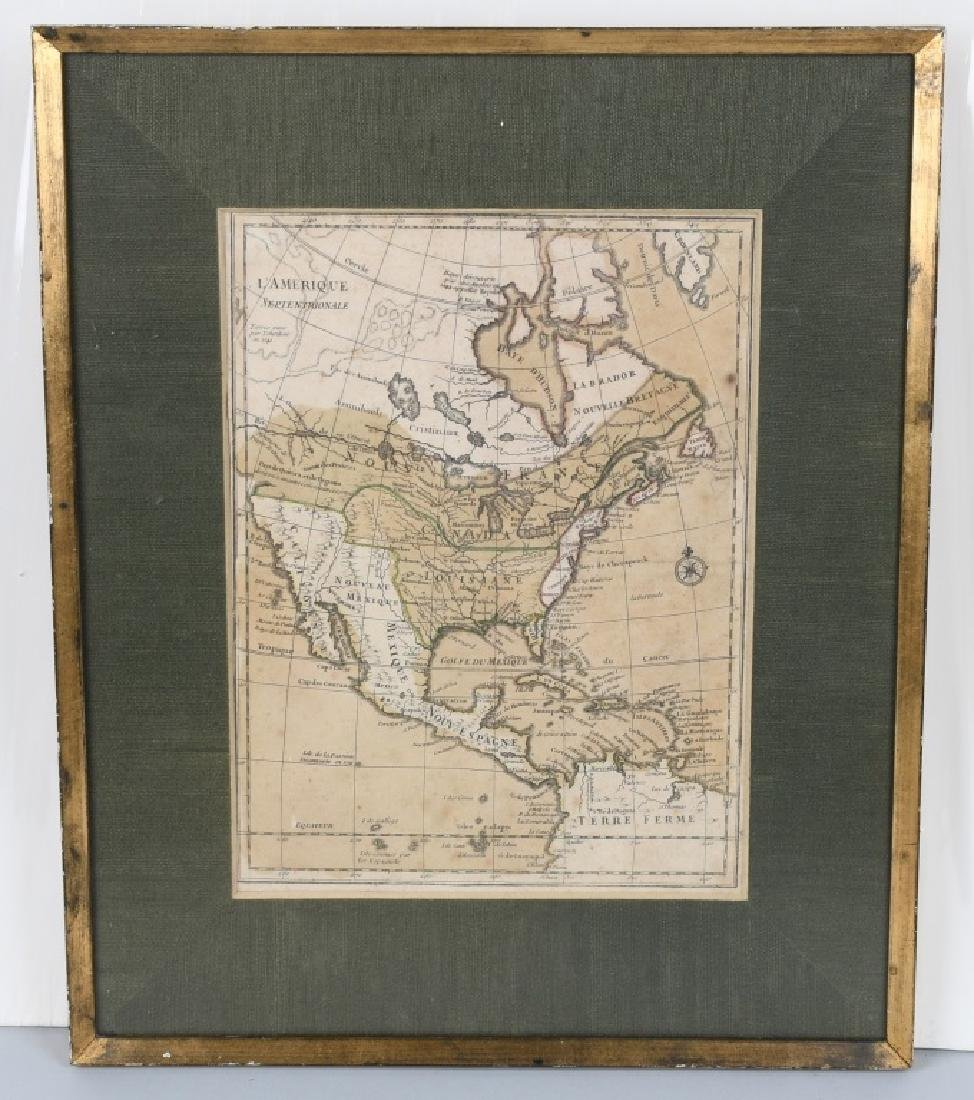 """FRENCH 1750 MAP OF NORTH AMERICA """"L'AMERIQUE"""""""
