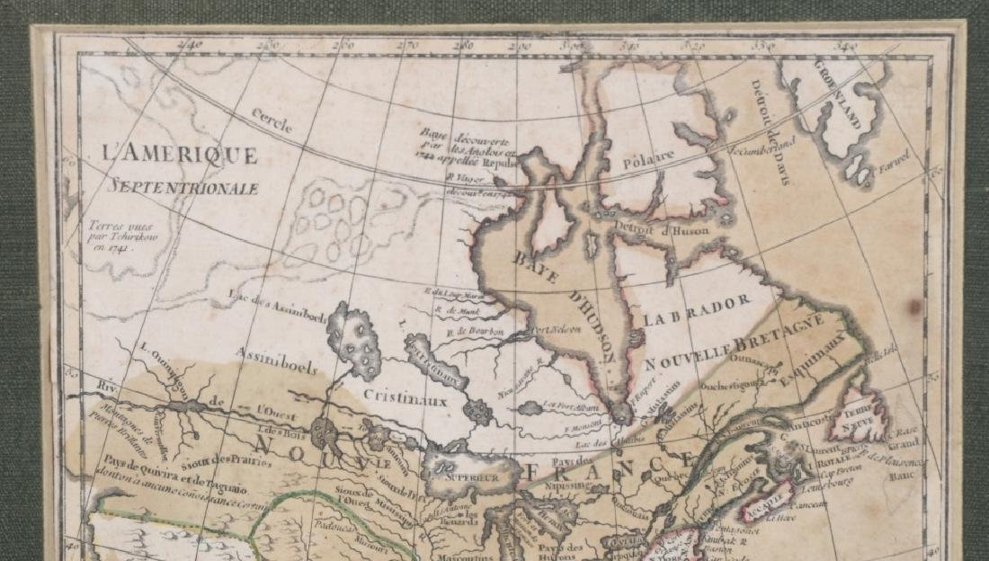 "FRENCH 1750 MAP OF NORTH AMERICA ""L'AMERIQUE"" - 3"