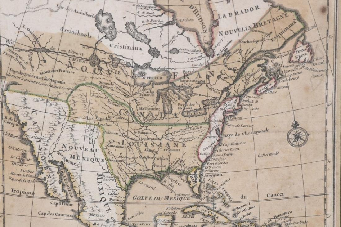 "FRENCH 1750 MAP OF NORTH AMERICA ""L'AMERIQUE"" - 4"