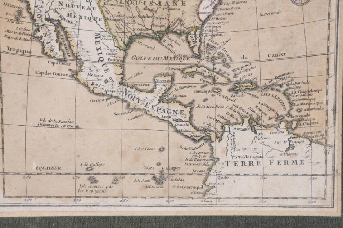 "FRENCH 1750 MAP OF NORTH AMERICA ""L'AMERIQUE"" - 5"