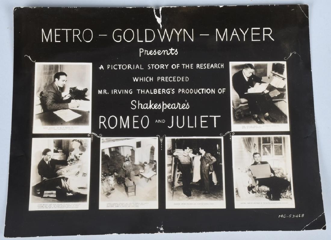 50-1936 MGM ROMEO & JULIET MOVIE STILL PHOTOS - 4