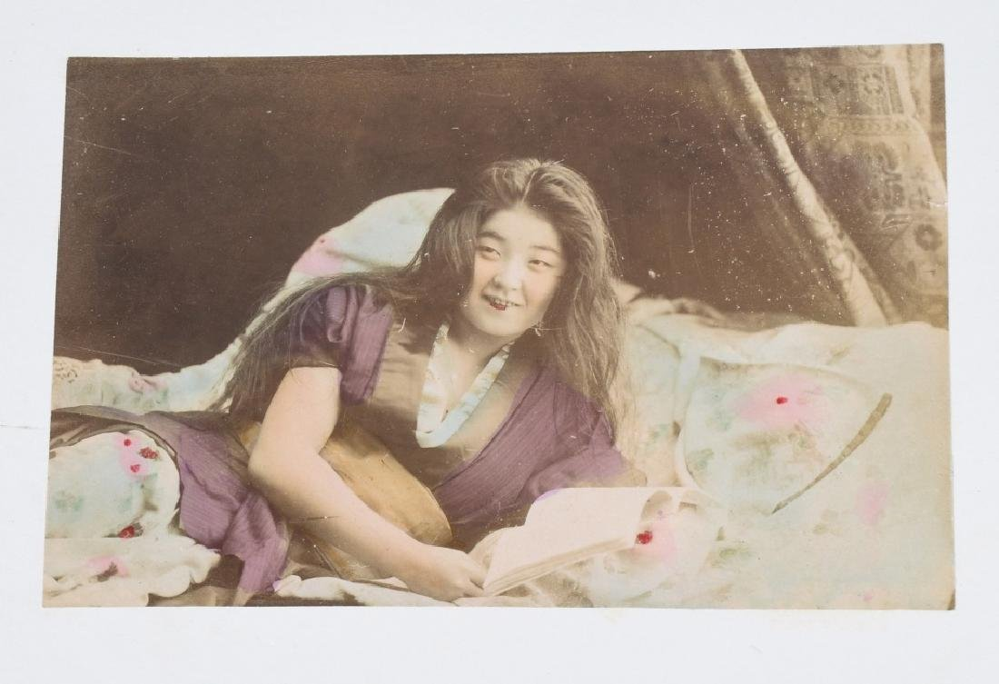 50- 1880s JAPAN HAND TINTED PHOTOS