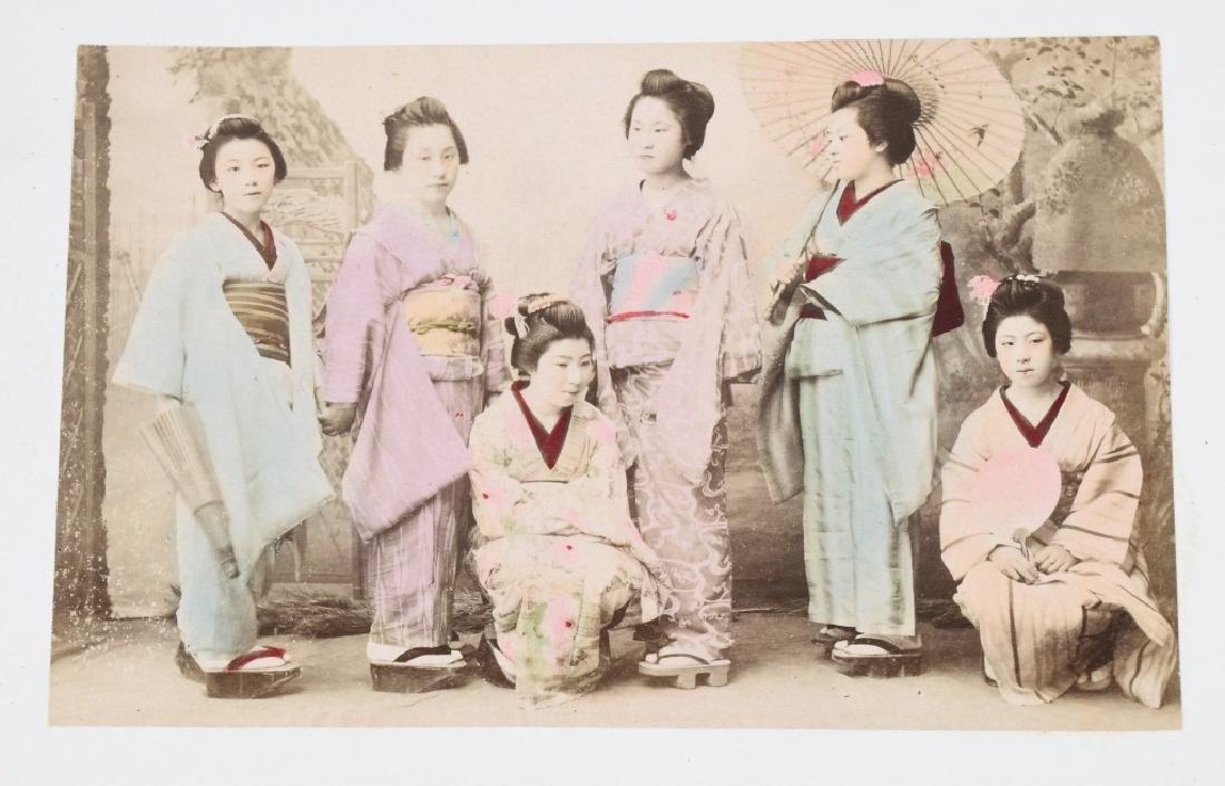 50- 1880s JAPAN HAND TINTED PHOTOS - 4