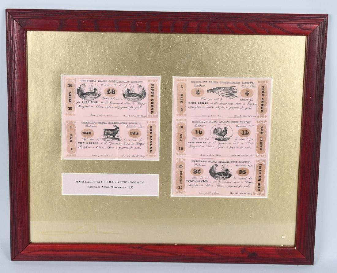 MARYLAND STATE COLONIZATION SOCIETY AFRICAN MONEY