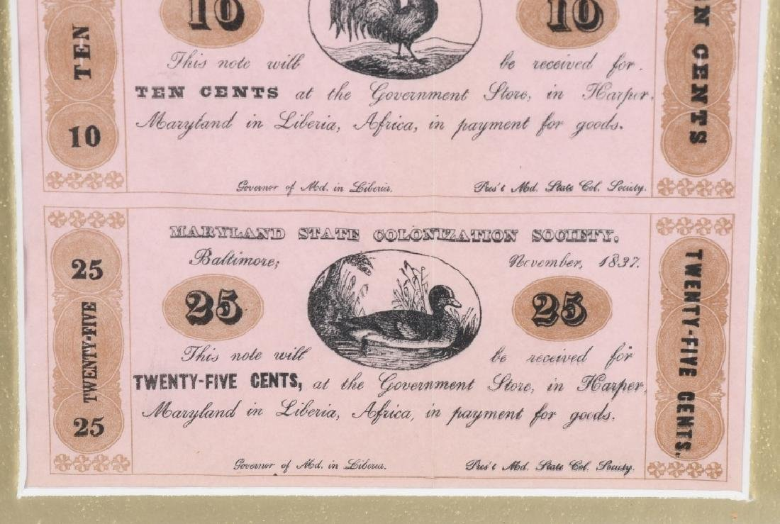 MARYLAND STATE COLONIZATION SOCIETY AFRICAN MONEY - 4