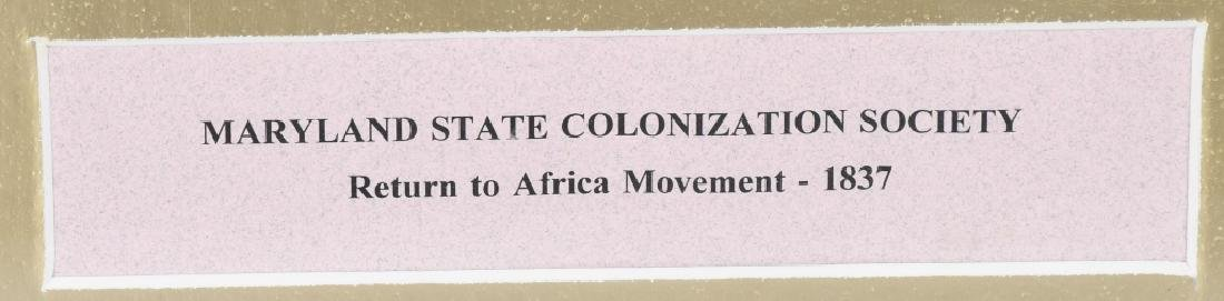 MARYLAND STATE COLONIZATION SOCIETY AFRICAN MONEY - 5