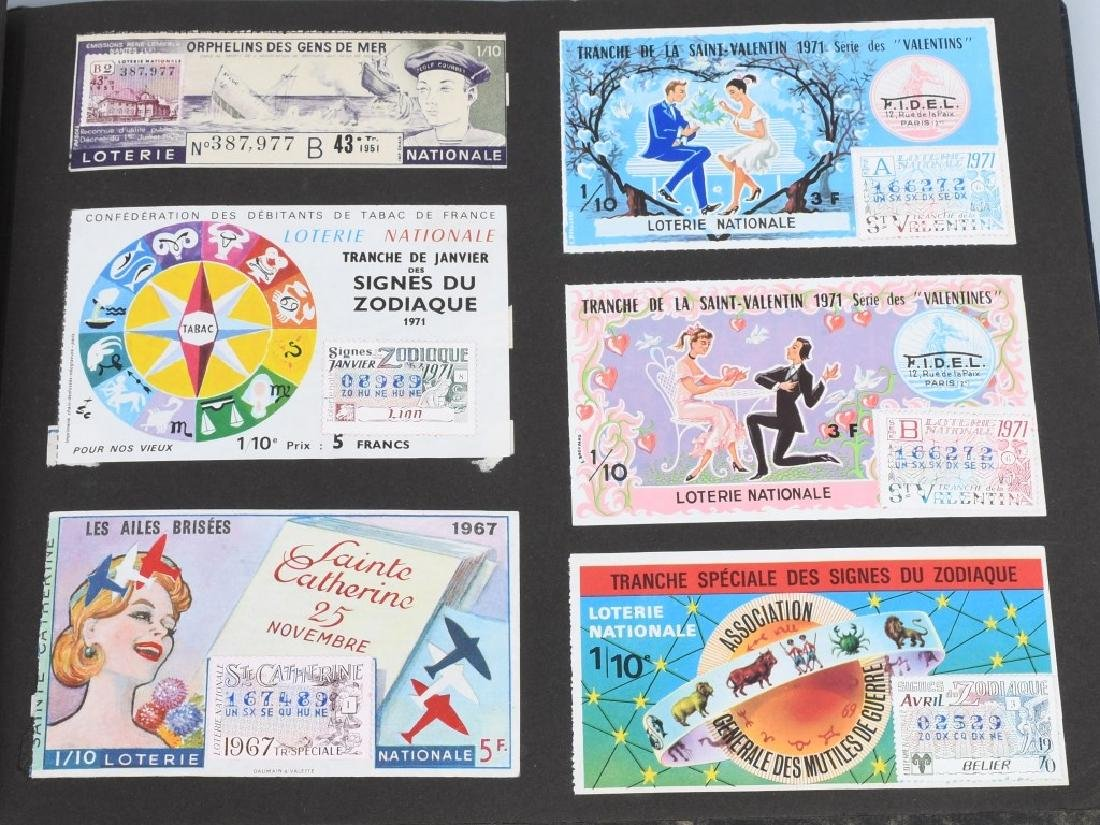 HUGE ALBUM OF FOREIGN LOTTERY TICKETS - 10