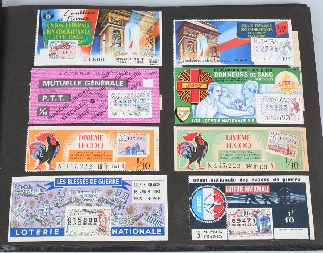 HUGE ALBUM OF FOREIGN LOTTERY TICKETS