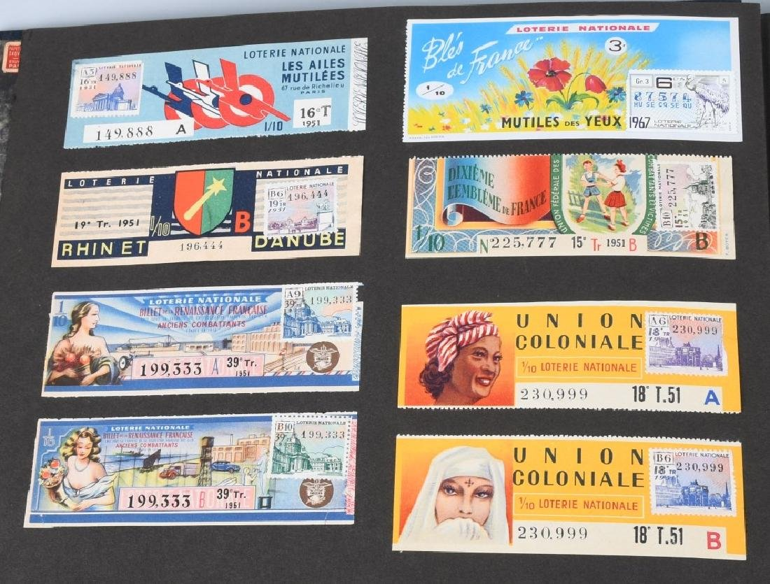 HUGE ALBUM OF FOREIGN LOTTERY TICKETS - 2