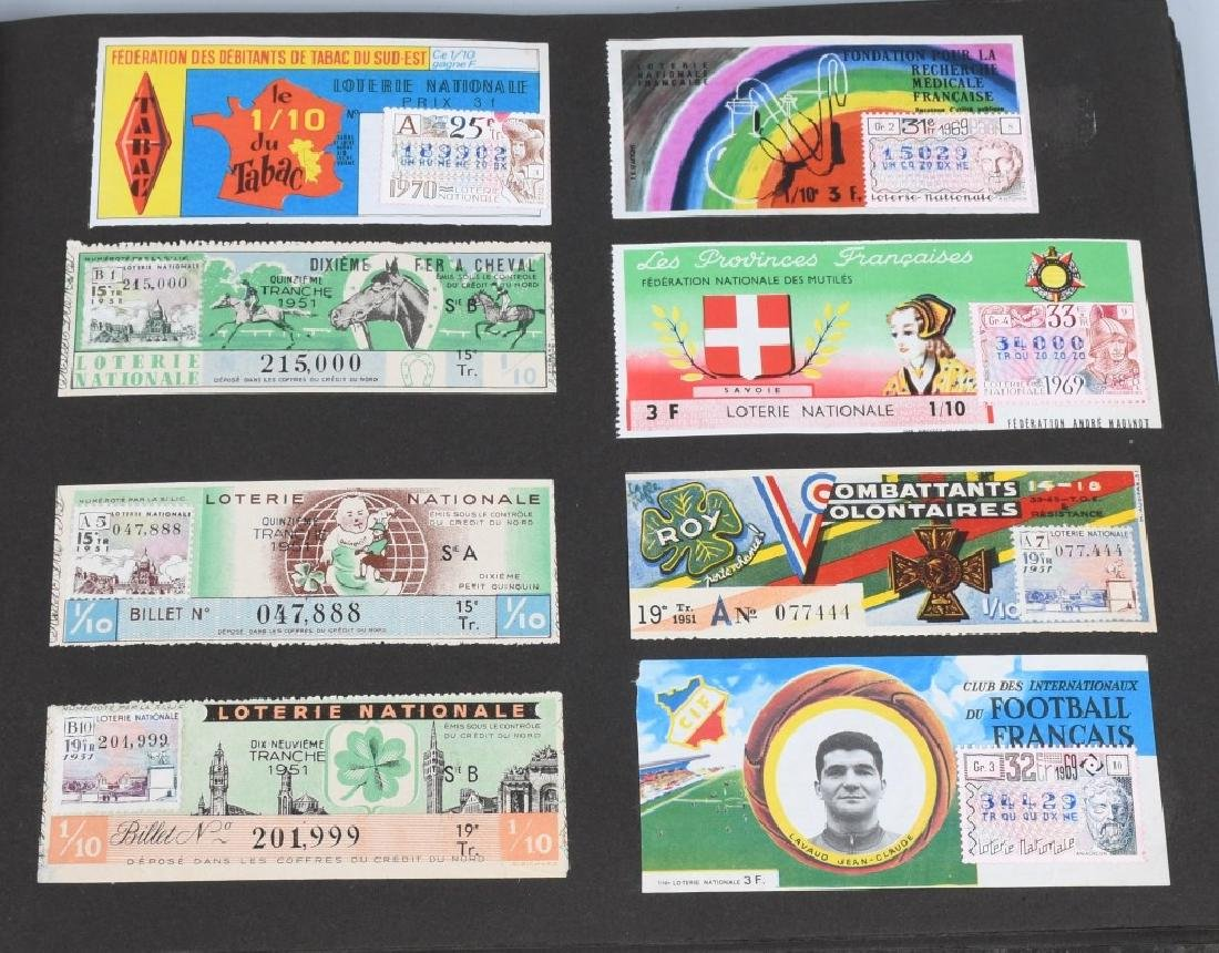 HUGE ALBUM OF FOREIGN LOTTERY TICKETS - 3