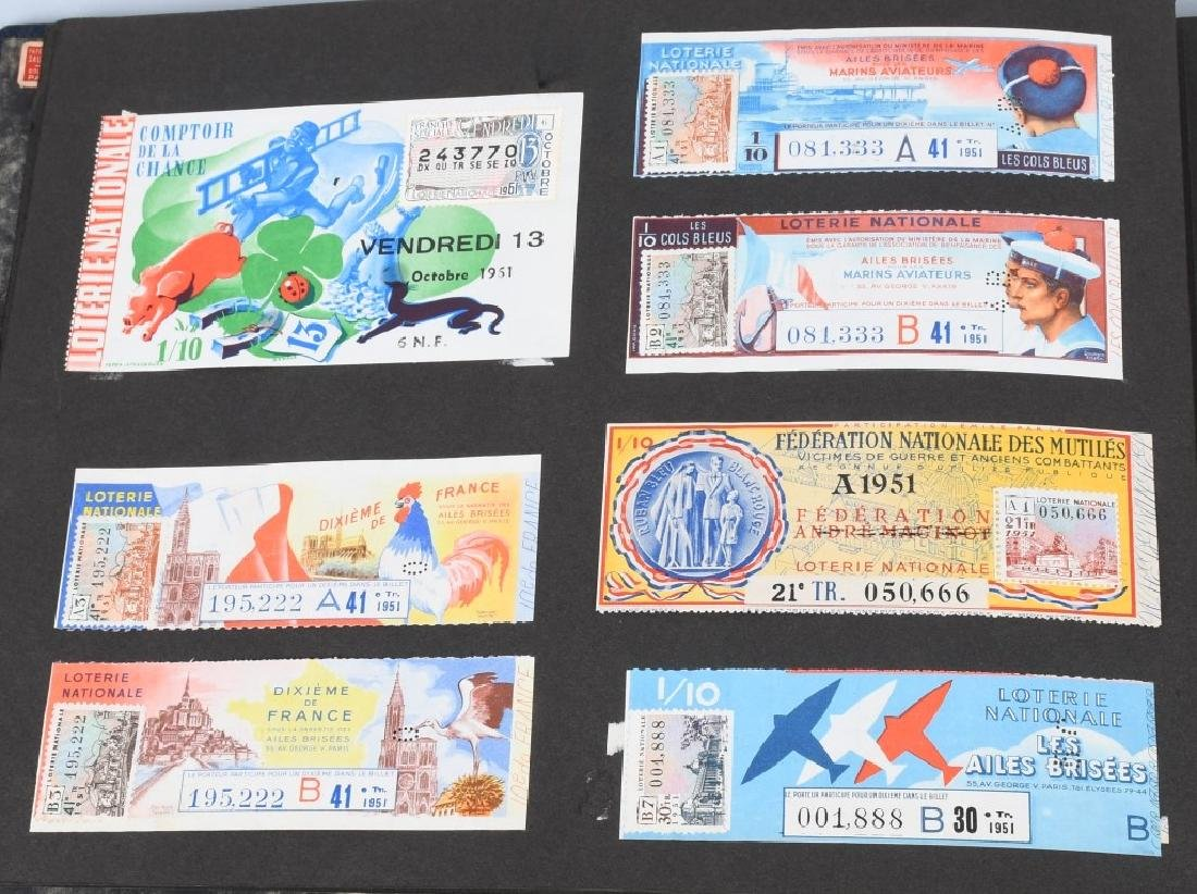 HUGE ALBUM OF FOREIGN LOTTERY TICKETS - 4