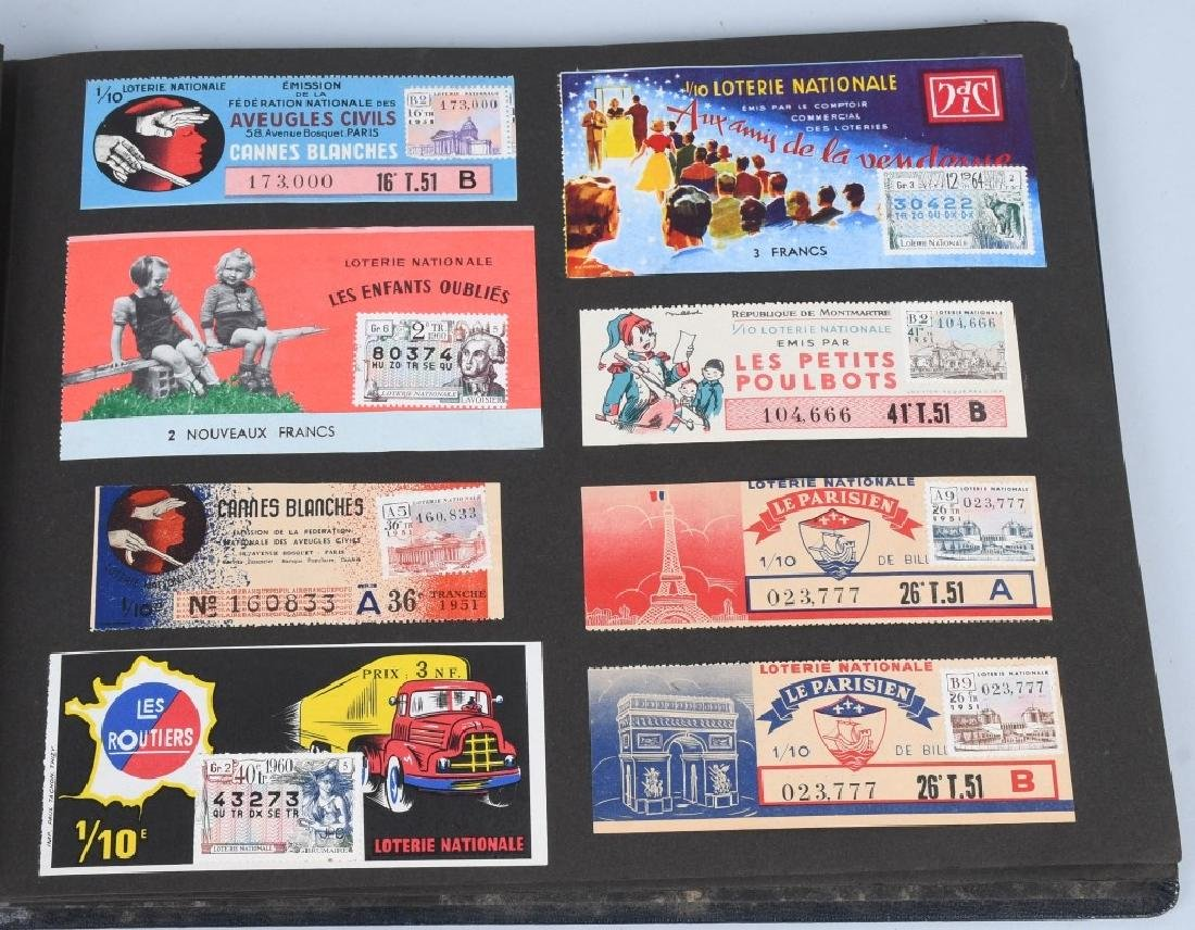 HUGE ALBUM OF FOREIGN LOTTERY TICKETS - 7