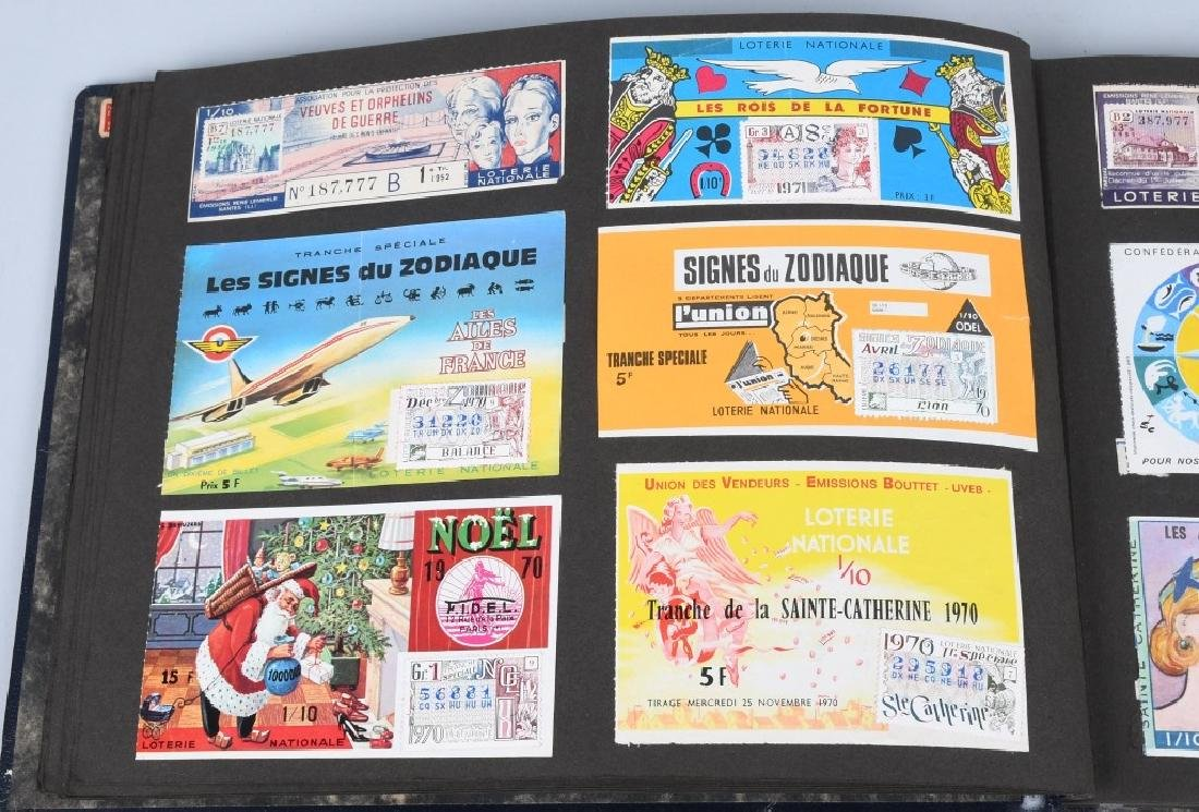 HUGE ALBUM OF FOREIGN LOTTERY TICKETS - 8