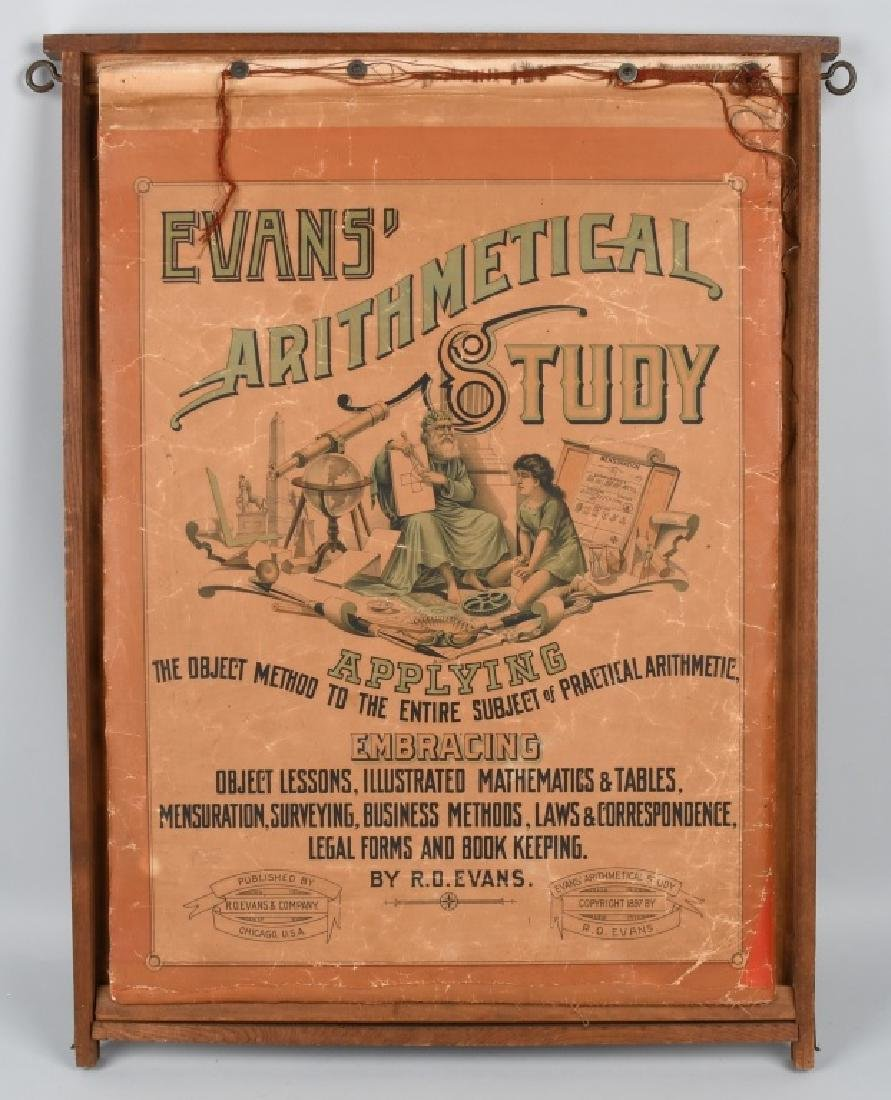 1897 EVANS ARITMETICAL STUDY TEACHING AID