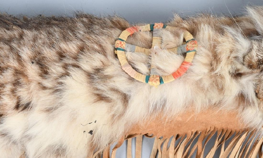 LEATHER & FUR DECORATED QUIVER and ARROWS - 3