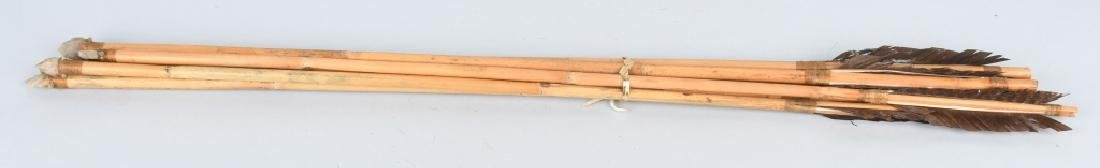 LEATHER & FUR DECORATED QUIVER and ARROWS - 6