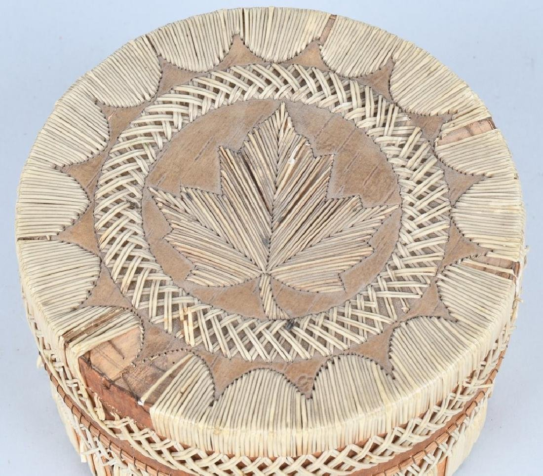 IROQUOIS QUILLED BASKET w/ LID - 2