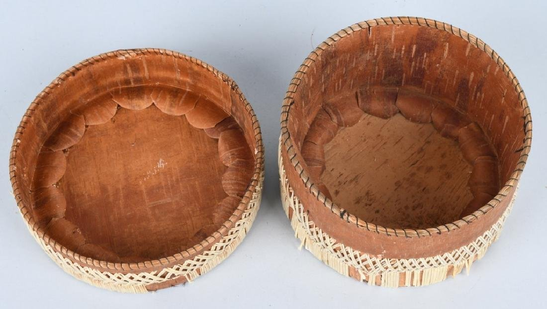 IROQUOIS QUILLED BASKET w/ LID - 3