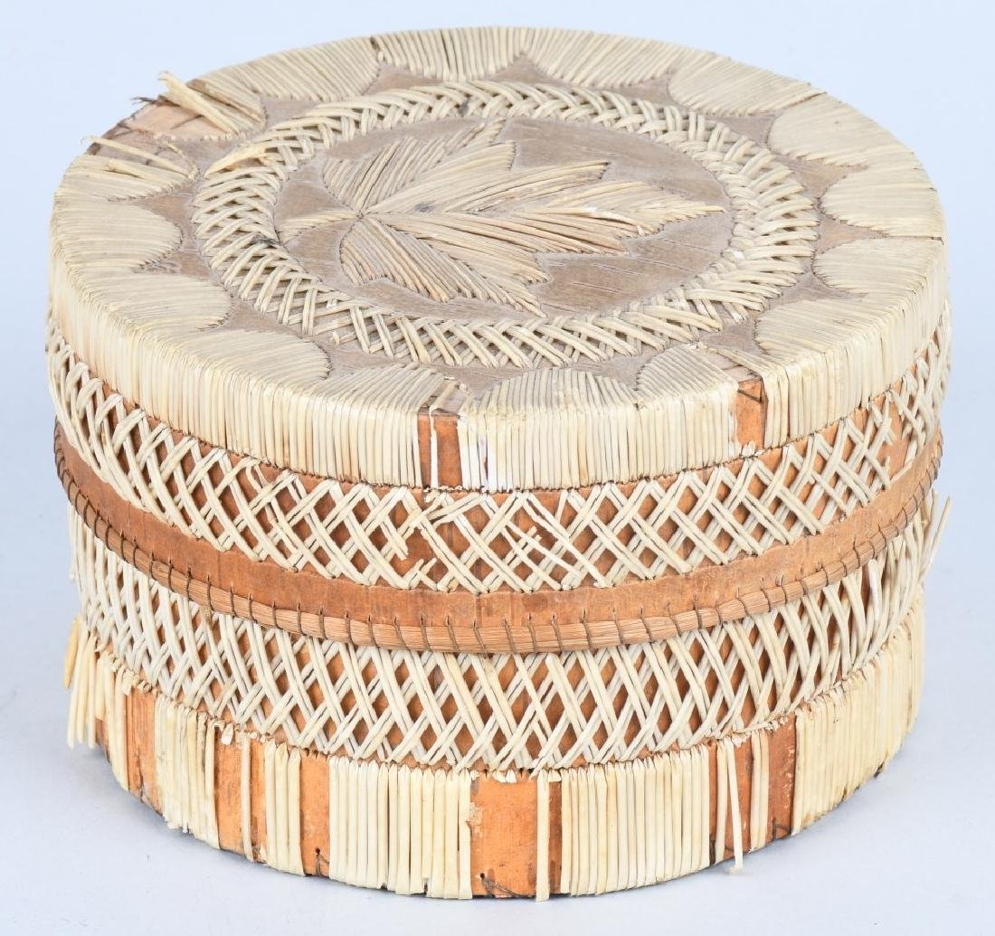IROQUOIS QUILLED BASKET w/ LID - 4