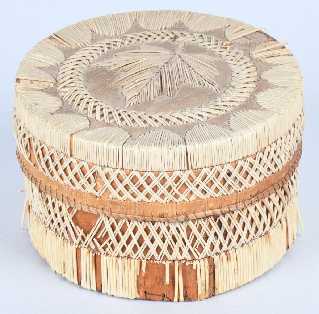 IROQUOIS QUILLED BASKET w/ LID - 5