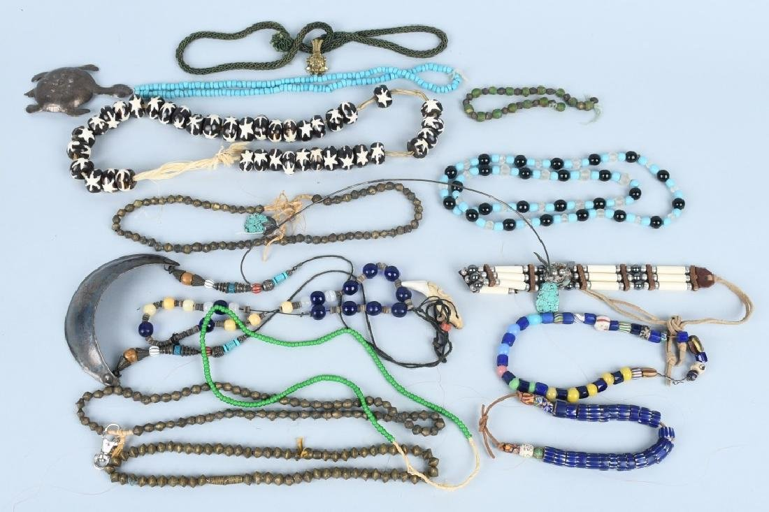 LARGE LOT of GLASS TRADE BEADS & MORE