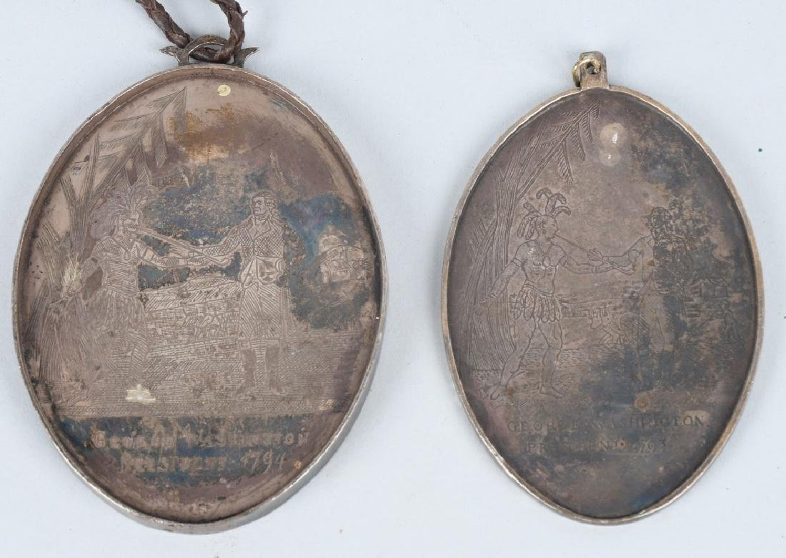 2-WASHINGTON OVAL INDIAN PEACE MEDALS