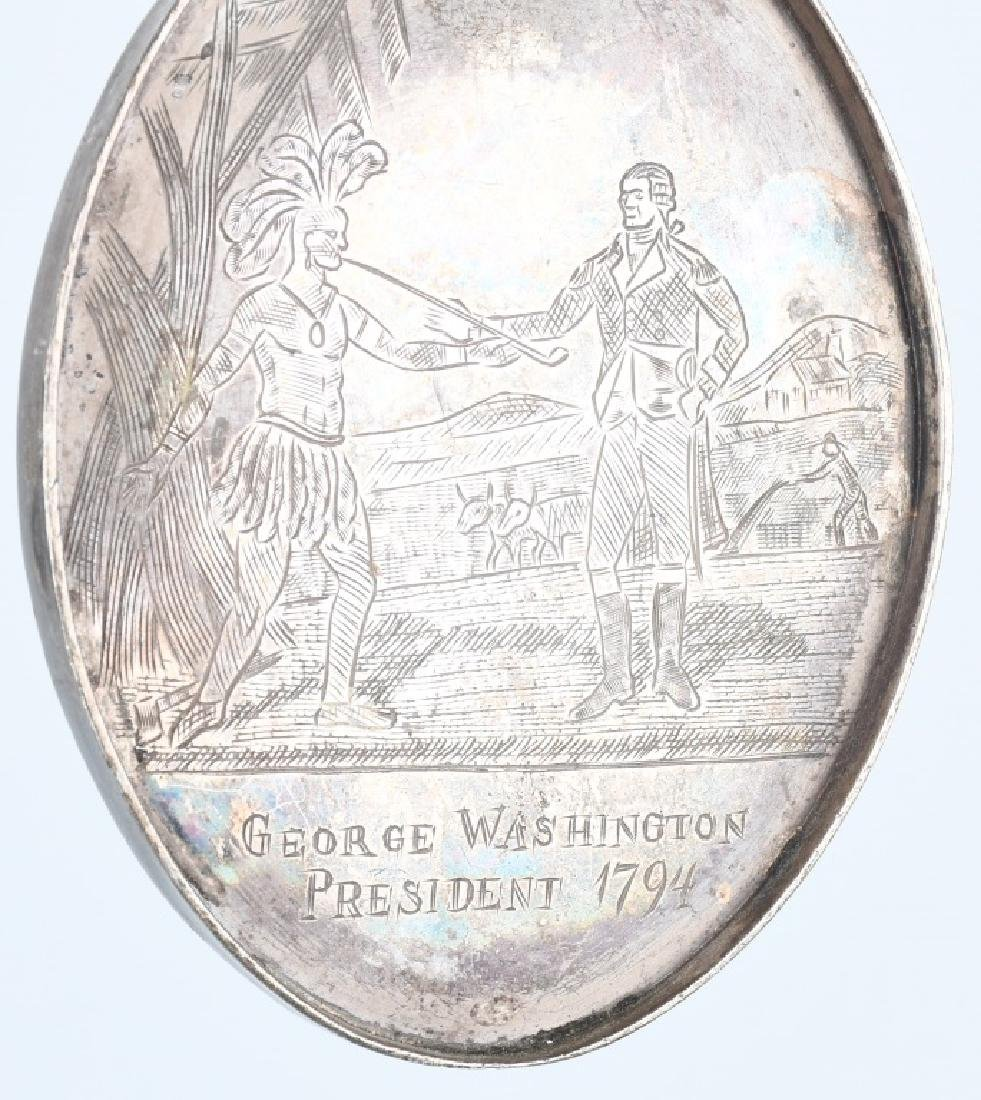 2-WASHINGTON OVAL INDIAN PEACE MEDALS - 2