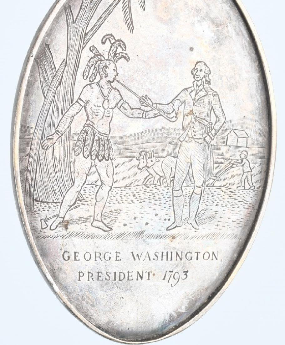 2-WASHINGTON OVAL INDIAN PEACE MEDALS - 4