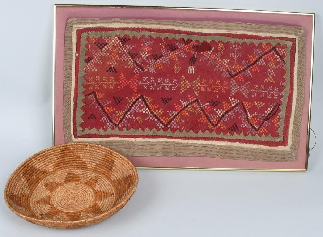 NATIVE AMERICAN RUG & BOWL