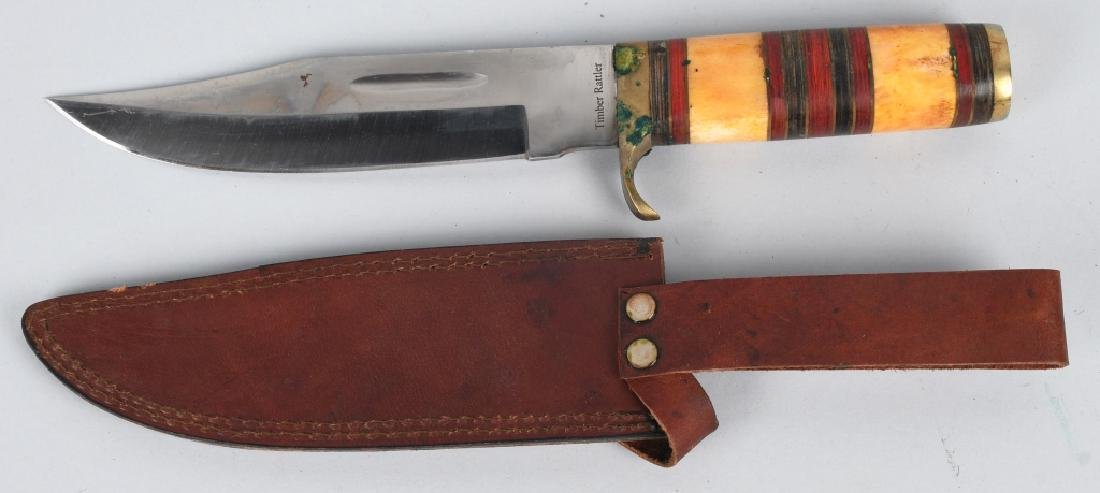 4-LARGE FIXED BLADE KNIVES with SHEATHS - 4