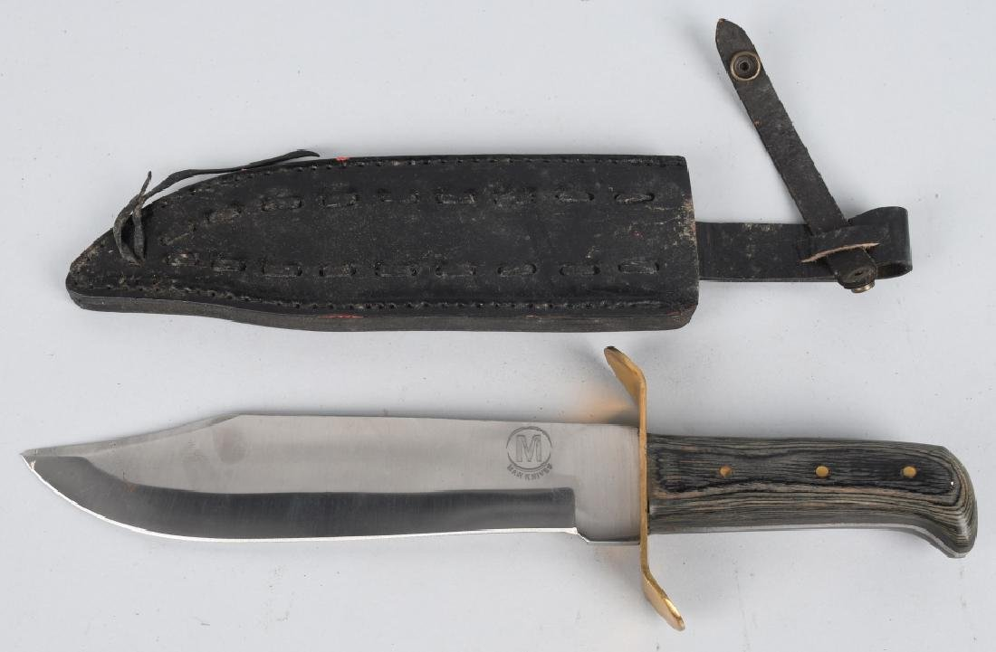 4-LARGE FIXED BLADE KNIVES with LEATHER SHEATHS - 5