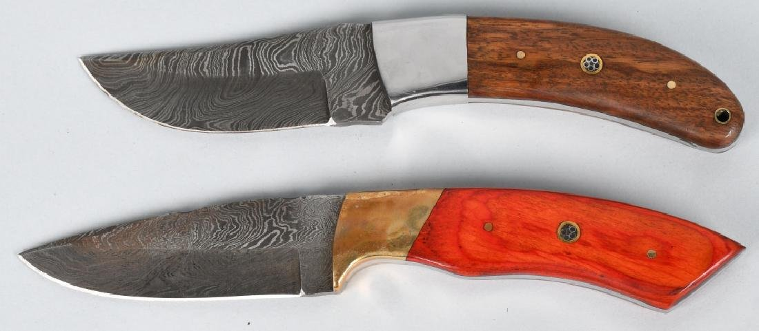2-CUSTOM DAMASCUS FIXED BLADE KNIVES - 2