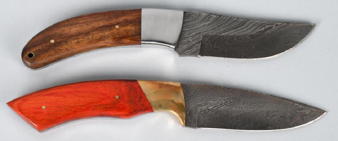 2-CUSTOM DAMASCUS FIXED BLADE KNIVES - 3