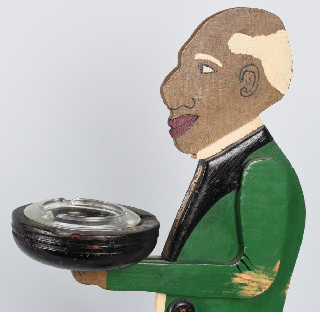 BLACK AMERICAN FOLK ART BUTLER ASH TRAY - 3