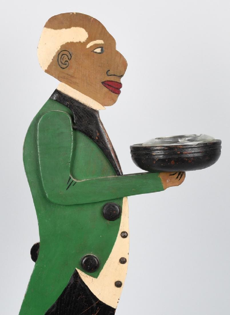 BLACK AMERICAN FOLK ART BUTLER ASH TRAY - 6