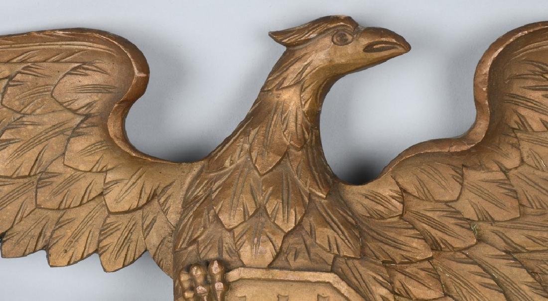 VINTAGE CARVED EAGLE with SHIELD & FLAG - 2