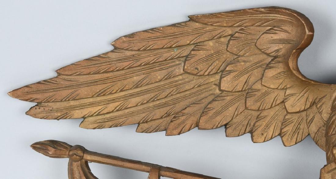 VINTAGE CARVED EAGLE with SHIELD & FLAG - 4
