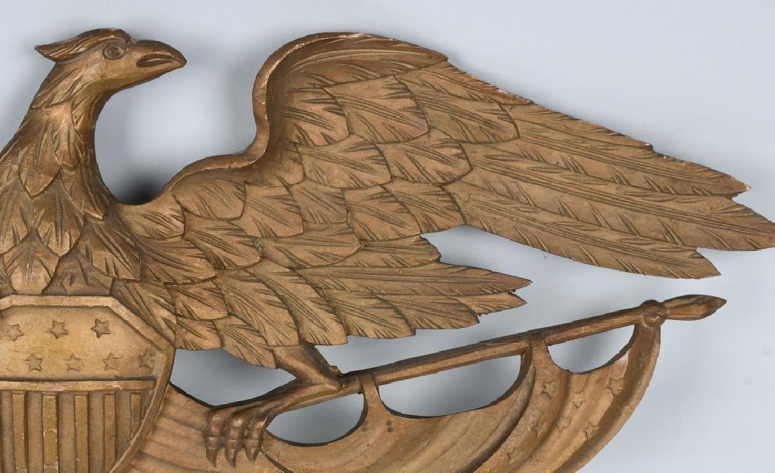 VINTAGE CARVED EAGLE with SHIELD & FLAG - 5